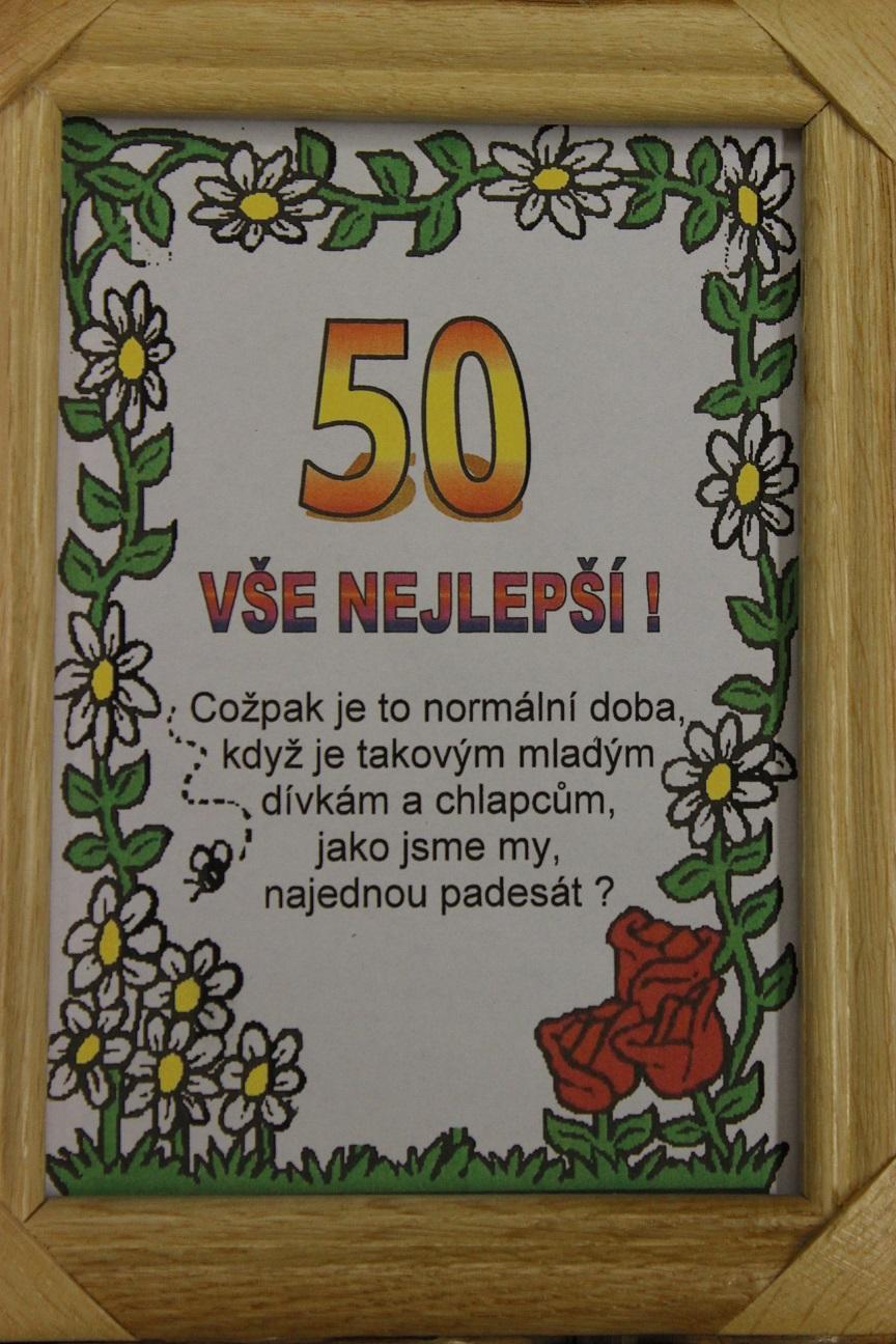 vtipné přání k 50 narozeninám Rámeček   50 vše nejlepší   Fóry a žerty vtipné přání k 50 narozeninám